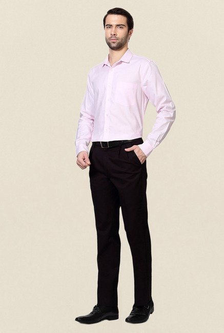Allen Solly Pink Solid Cotton Formal Shirt