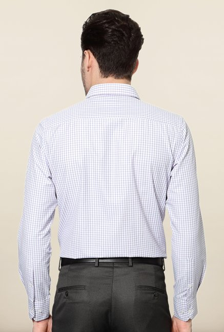 Peter England White Checks Shirt