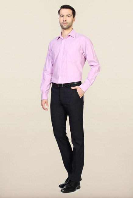 Allen Solly Purple Printed Cotton Formal Shirt
