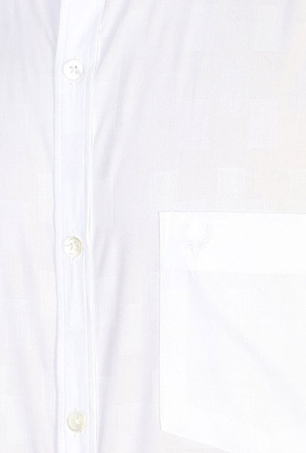 Allen Solly White Solid Cotton Formal Shirt