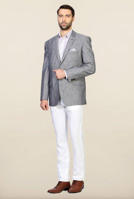 Allen Solly Grey Slim Fit Blazer