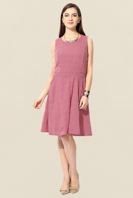 Allen Solly Red Shift Dress