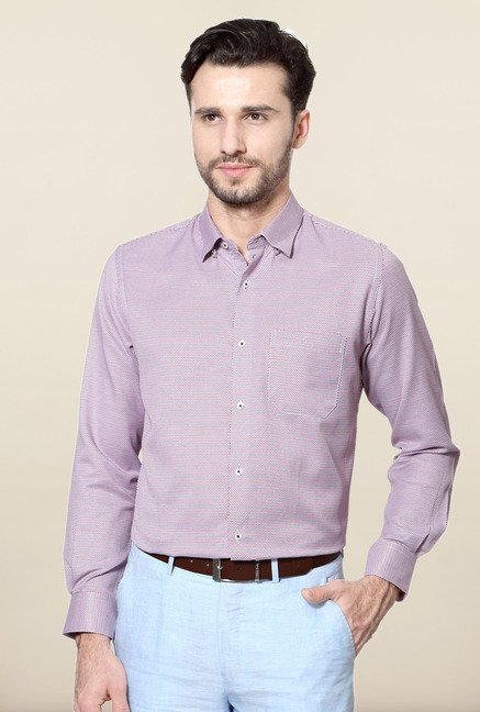 Peter England Red Printed Formal Shirt