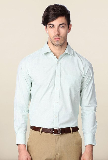 Peter England Green Slim Fit Shirt