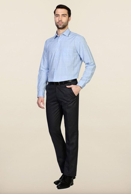 Peter England Blue Regular Fit Formal Shirt