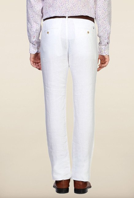 Allen Solly White Solid Trouser