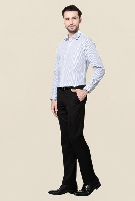 Peter England White Cotton Shirt