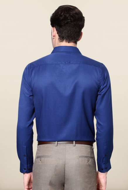Peter England Royal Blue Formal Shirt