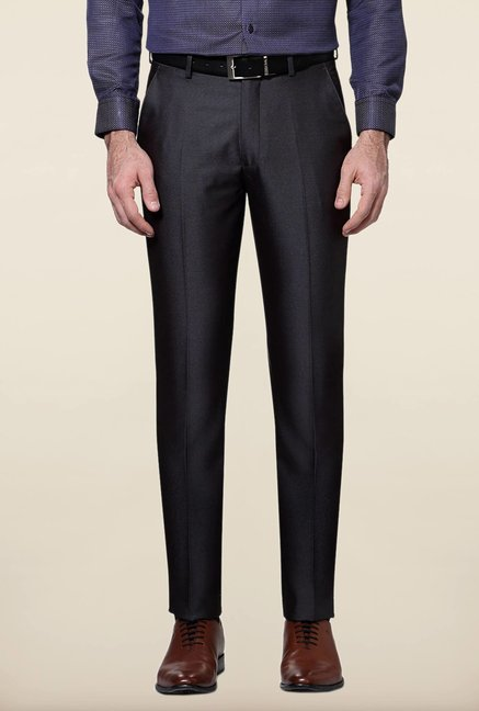 Peter England Grey Slim Fit Trouser