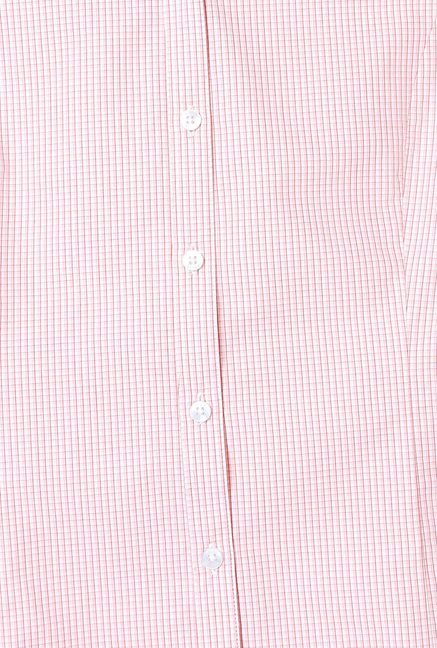 Allen Solly Pink Checked Formal Shirt