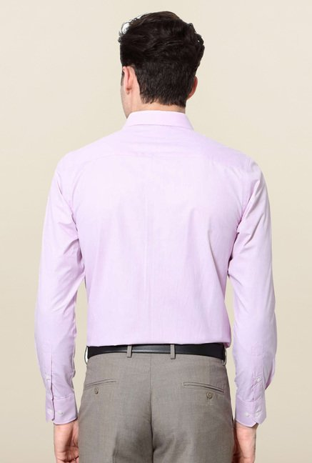 Peter England Lilac Solid Formal Shirt