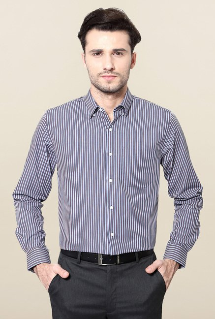 Peter England Navy Cotton Shirt