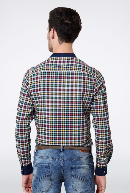 Allen Solly Multicolored Checks Casual Shirt