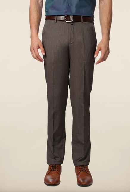 Peter England Brown Slim Fit Trouser