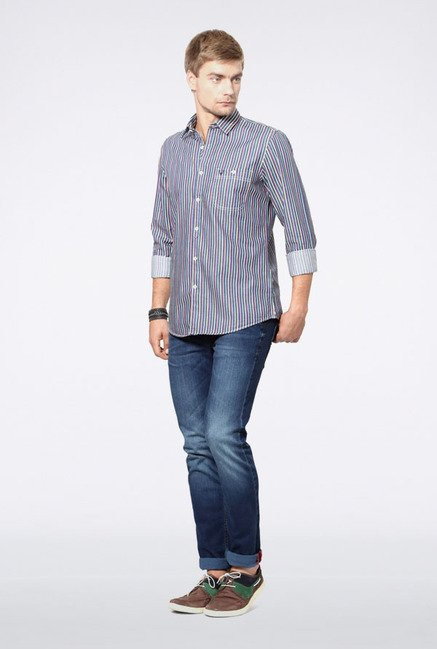 Allen Solly Multicolored Striped Casual Shirt