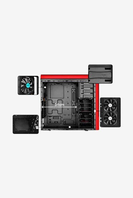 Deepcool PANGU SW-RD Mid Tower Cabinet Red