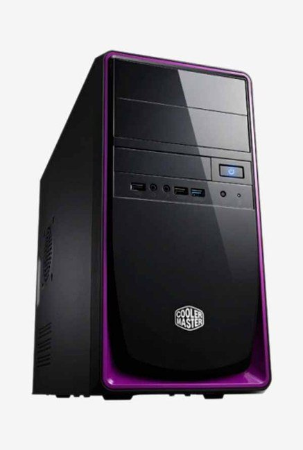 Cooler Master Elite 344 CPU Cabinet Black & Purple