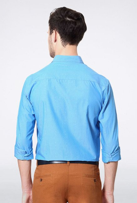 Allen Solly Light Blue Solid Casual Shirt