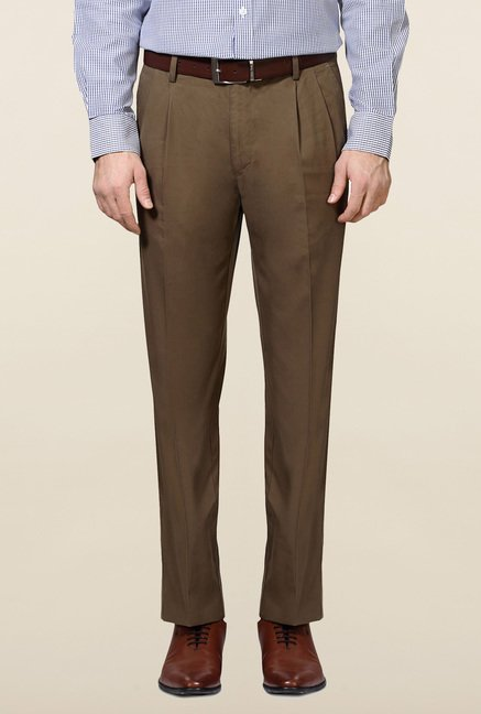 Allen Solly Olive Solid Trouser