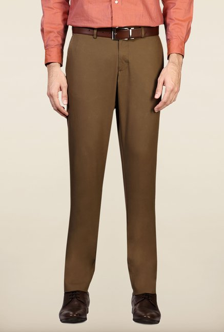 Allen Solly Khaki Cotton Trouser