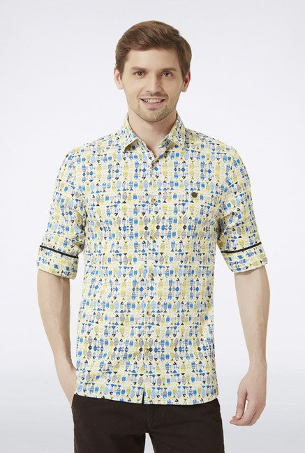 Peter England Multicolored Printed Casual Shirt
