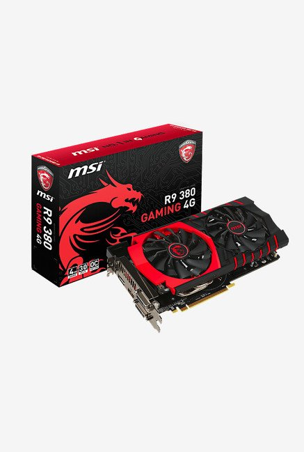 MSI R9 380 GAMING 4G Graphics Card Black