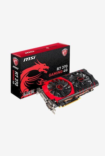 MSI R7 370 GAMING 4G Graphics Card Black