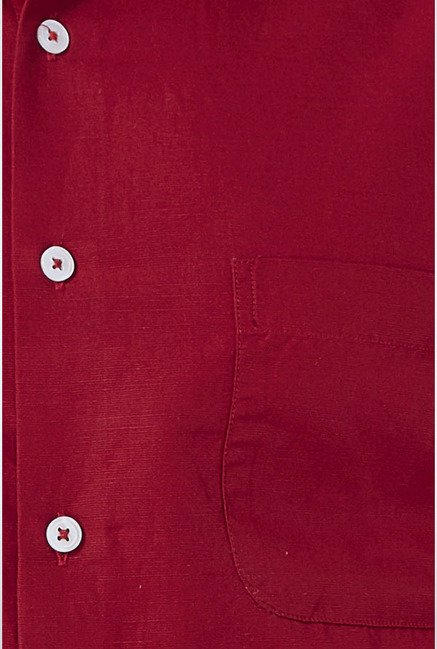 Peter England Maroon Slim fit Casual Shirt