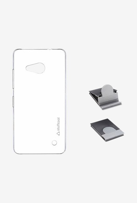 Stuffcool Clair Hard Back Case for Lumia 550 (Clear)