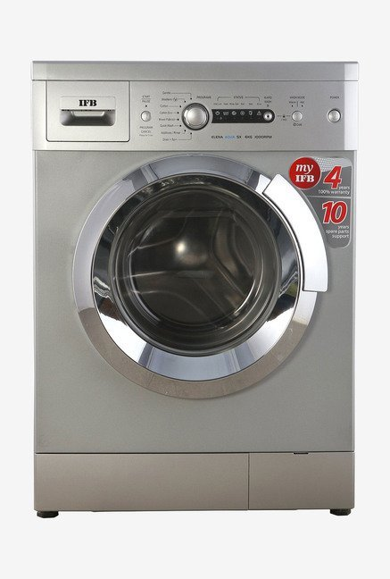 IFB 6Kg Fully Automatic Front Load Washing Machine Silver (Elena Aqua SX LDT, Silver)