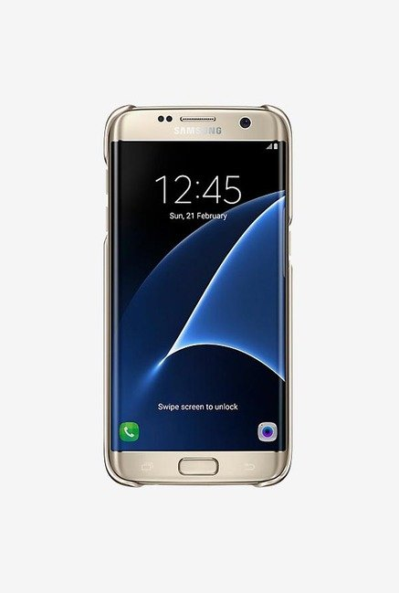Samsung S7 Edge Clear Cover (Gold)