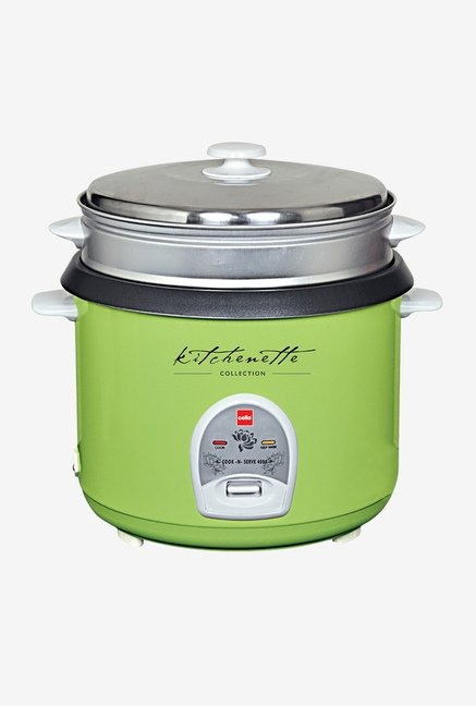 Cook-N-Serve 400 (1000W, 2.8 Ltr) Rice Cooker Green