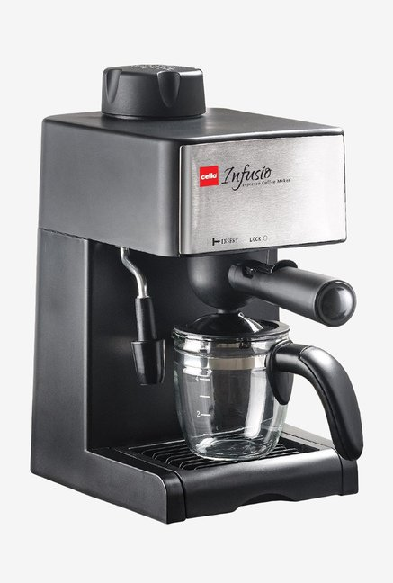 Cello 4 Cup Infusio Espresso Coffee Maker Black