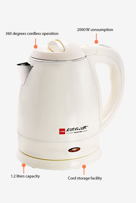 Cello Quick Boil 300 1.2 Litre Kettle White