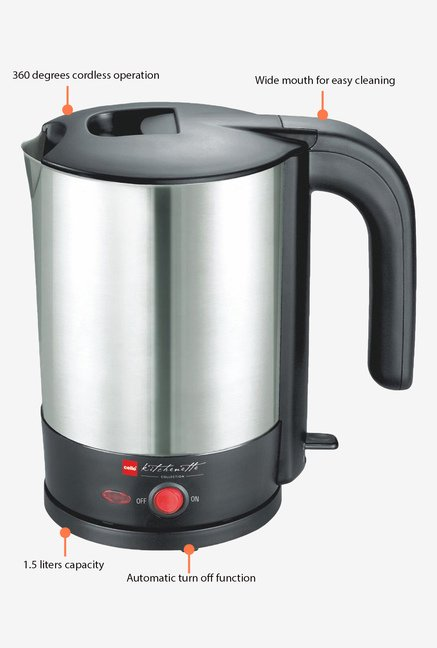 Cello Brew-N-Boil 1.5 Litre Tea Maker Silver
