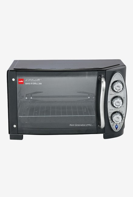 Cello 25L Bake N Grill 200 Oven Toaster Griller Black