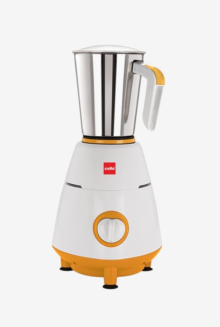 Cello 500W Grind-N-Mix 800 Mixer Grinder Yellow & White