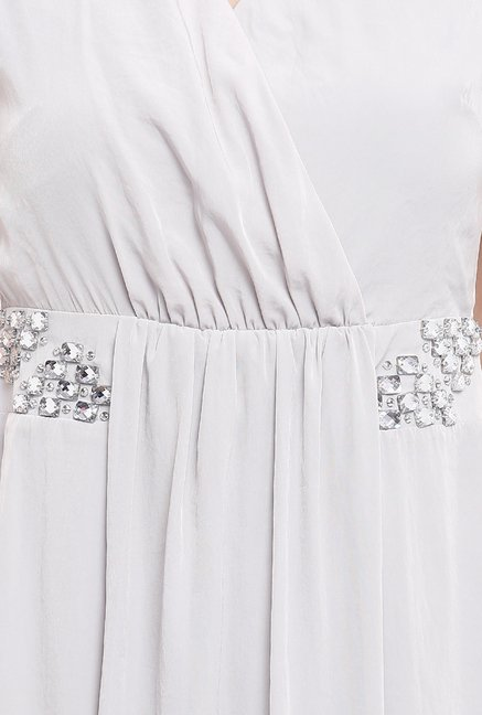 Avirate Grey Embellished Princess Panel Dress