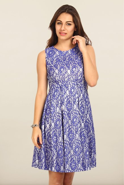 Avirate Blue Lace Princess Panel Dress