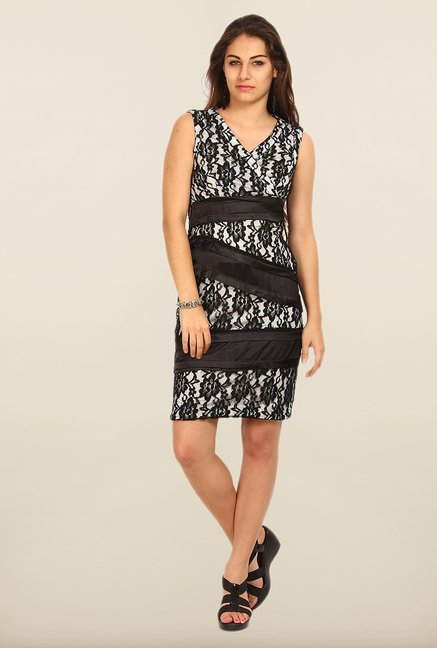 Avirate Black Lace Bodycon Dress