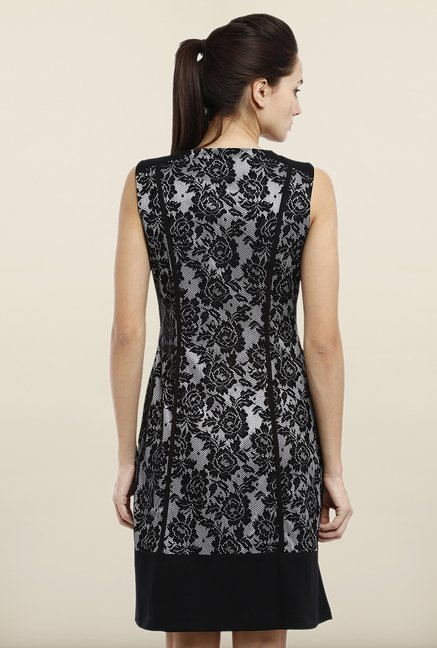 Avirate Black Lace Princess Panel Dress