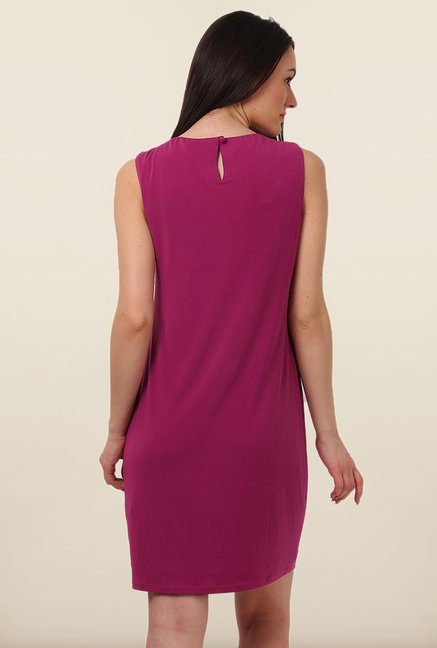 Avirate Purple Solid Shift Dress