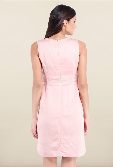 Avirate Pink Solid Tunic Dress