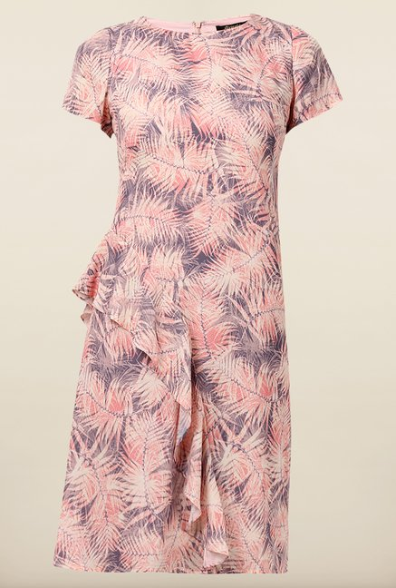Avirate Pink Printed Shift Dress
