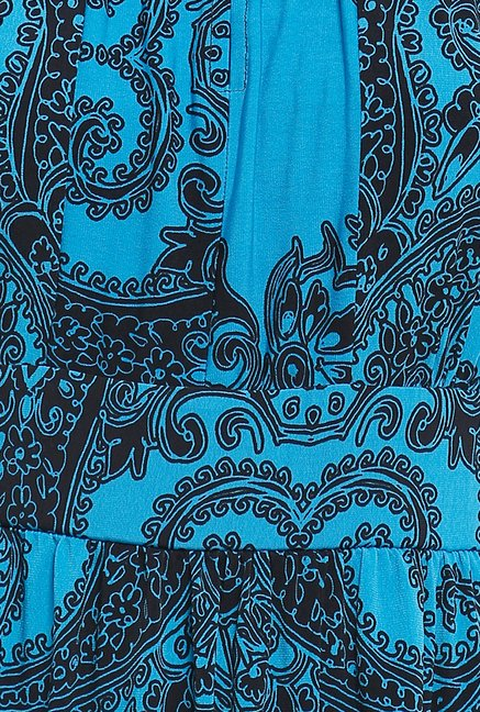 Avirate Blue Paisley Print Maxi Dress