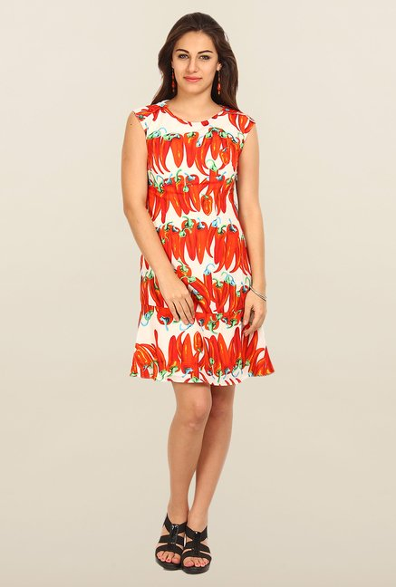 Avirate Multicolor Printed Shift Dress