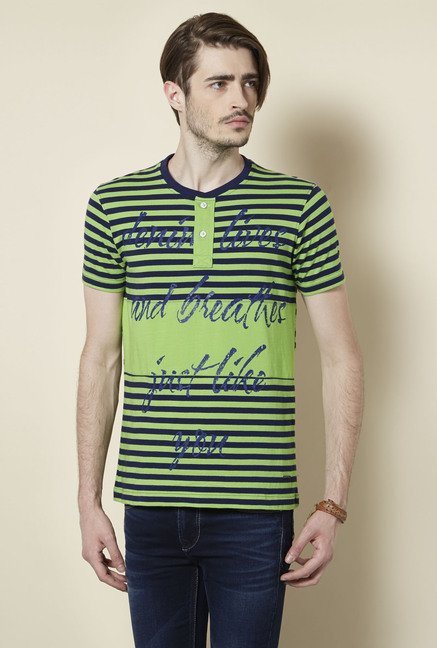 Killer Green Henley Neck T Shirt