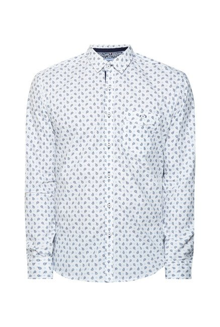 Killer White Motif Printed Shirt