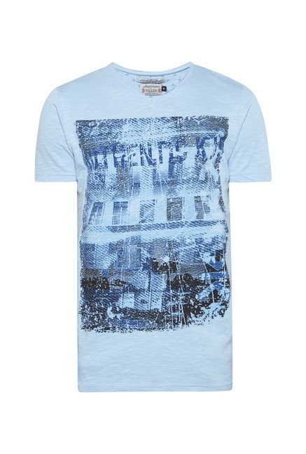 Killer Sea Blue Printed T Shirt