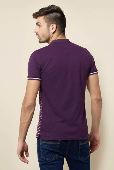 Lawman Purple Printed T shirt